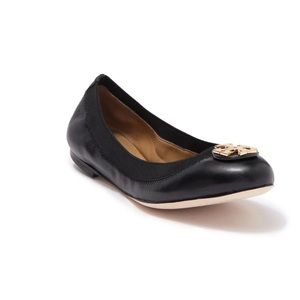 TORY BURCH Claire Elastic Leather Flat.